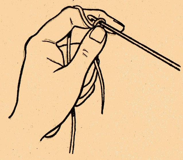 Как научиться вязать левой рукой